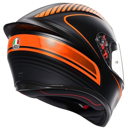 Casco Moto Integrale AGV K-1 Multi WARMUP Nero Arancio