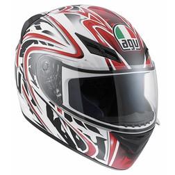 Casco Moto Integrale Agv K-3 Multi Wire Bianco Rosso Agv