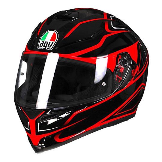Casco Moto Integrale AGV K-5 S Magnitude Nero Rosso