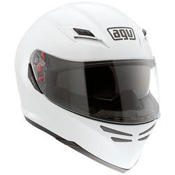 Casco Moto Integrale Agv Skyline Doppia Visiera Mono Bianco Lucido Agv