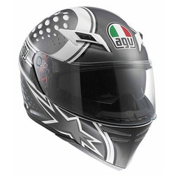 Casco Moto Integrale Agv Skyline Doppia Visiera Multi Psyco White-Gunmetal Agv