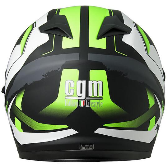Casco Moto Integrale CGM 308X Atlanta Nero Verde Opaco
