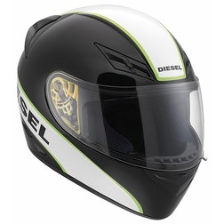 Casco Moto Integrale Diesel Full-Jack Multi Logo Bianco Nero Bianco Verde Agv