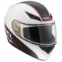 Casco Moto Integrale Diesel Full-Jack Multi Logo Bianco Nero Rosso Agv