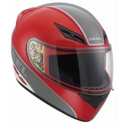 Casco Moto Integrale Diesel Full-Jack Multi Logo Rosso Grigio Bianco Agv