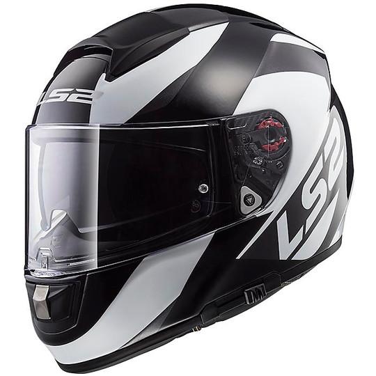 Casco Moto Integrale in Fibra LS2 FF397 Vector Wavy Nero Titanio Doppia Visiera