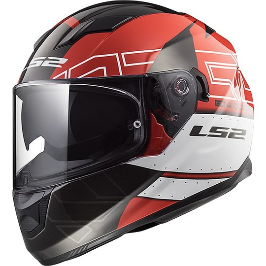 Casco Moto Integrale LS2 FF320 Stream Evo KUB Nero Rosso