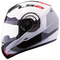 Casco Moto Integrale Ls2 FF351 Atmos Bianco-Rosso Ls2