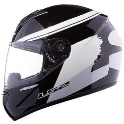 Casco Moto Integrale Ls2 FF351 Fluo Nero Bianco Ls2