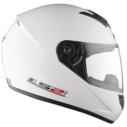 Casco Moto Integrale Ls2 FF351 Single Mono Bianco Lucido Ls2
