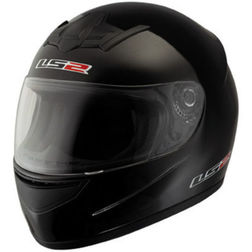 Casco Moto Integrale Ls2 FF351 Single Mono Nero Lucido Ls2
