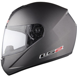Casco Moto Integrale Ls2 FF351 Single Mono Titanio Opaco Ls2