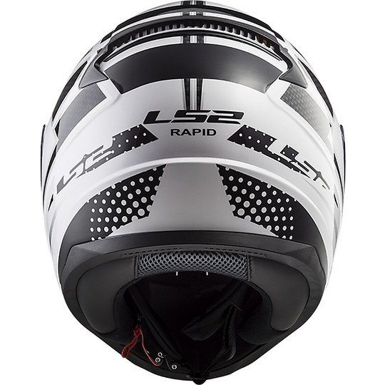 Casco Moto Integrale Ls2 FF353 Rapid Carborace Bianco Nero
