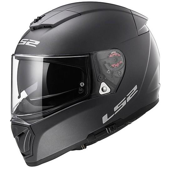 Casco Moto Integrale  LS2  FF390 Breacker Doppia Visiera Solid Titanio opaco
