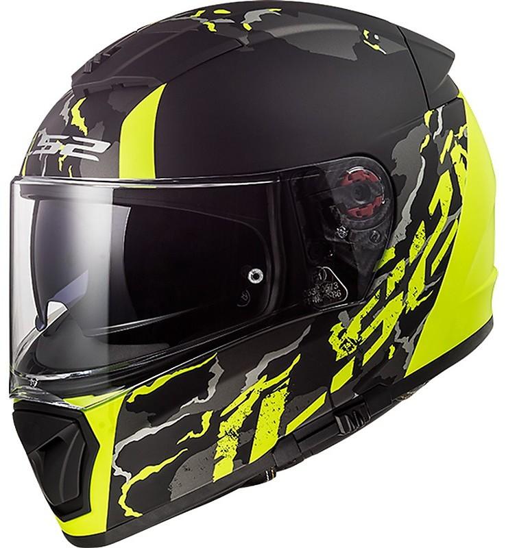 XXS LS2 Nero//Verde Fluo Casco Moto