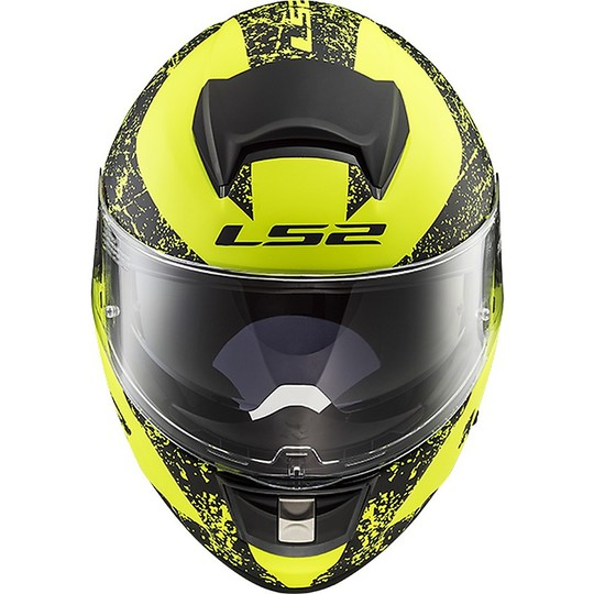 Casco Moto Integrale Ls2 FF397 Vector Sign Nero Giallo Opaco