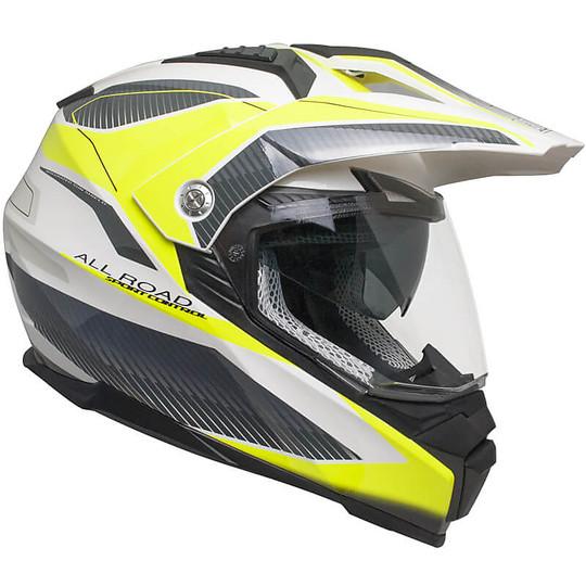 Casco Moto Integrale Touring Doppia Visiera CGM 606G FORWARD Giallo Fluo