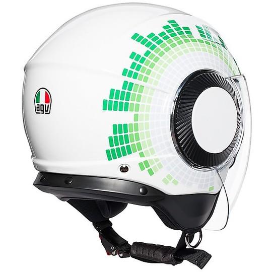 Casco Moto Jet AGV ORBYT Multi GINZA Bianco Italia