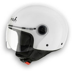 Casco Moto Jet Airoh Compact Color Bianco Lucido New 2014 Airoh