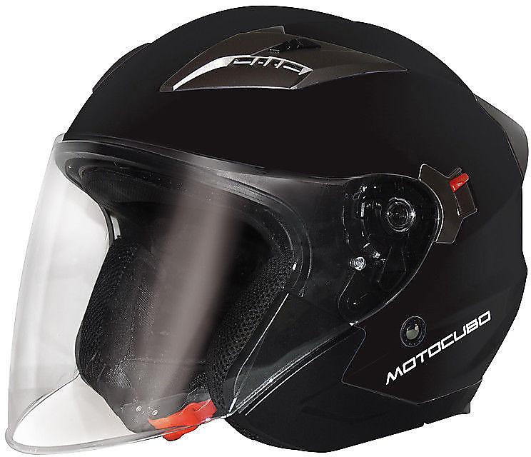 CASCO MOTO SCOOTER JET TOURER UNIVERSALE MOTOCUBO NERO OPACO TAGLIA XS