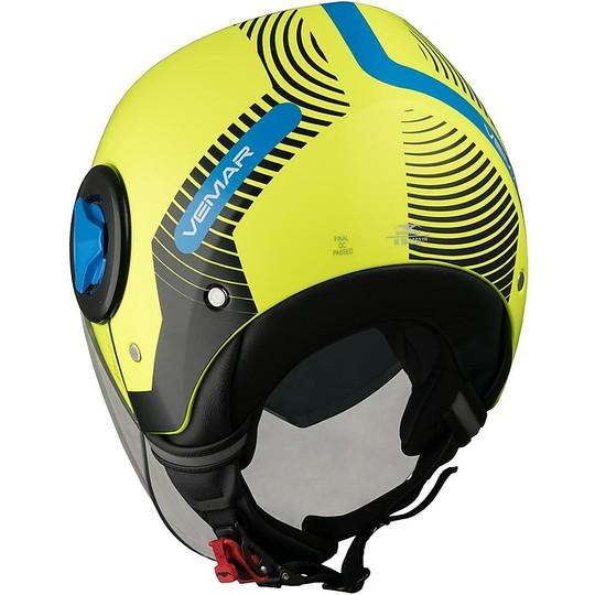 Casco Moto Jet Doppia Visiera Vemar JY20 BREEZE Radar Giallo Fluo