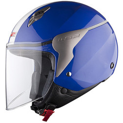 Casco Moto jet LS2 OF559 Blink Navy Blu Ls2