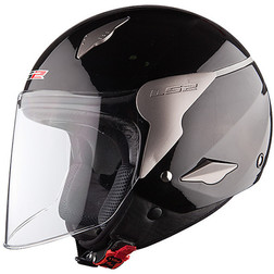 Casco Moto jet LS2 OF559 Rocket Nero Lucido Ls2