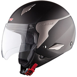 Casco Moto jet LS2 OF559 Rocket Nero opaco Ls2