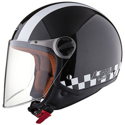 Casco moto jet LS2 OF560 Bat Black Ls2