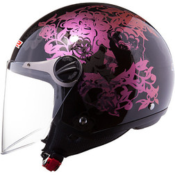 Casco moto jet LS2 OF560 Nature Black Ls2
