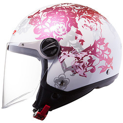 Casco moto jet LS2 OF560 Nature White Ls2
