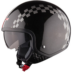 Casco moto jet LS2 OF561 Visierino Integrato Dinco Nero Ls2