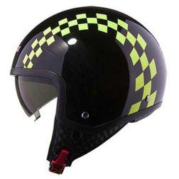 Casco moto jet LS2 OF561 Visierino Integrato Dinoco Giallo Hi-Vision Ls2