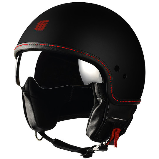 Casco moto Jet Motocubo Beetle Nero Opaco Con Visierino