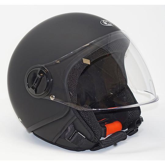 Casco moto Jet One Con Visiera Lift Nero Opaco