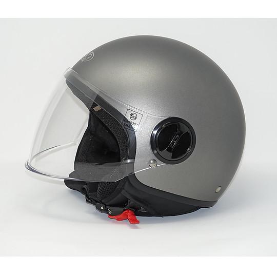 Casco moto Jet One Con Visiera Lift Titanio Opaco