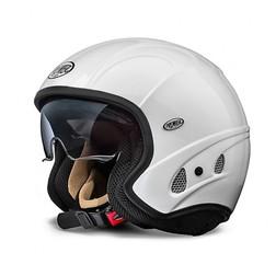 Casco Moto Jet Premier Free Evo Visiera Integrata Bianco Lucido Premier
