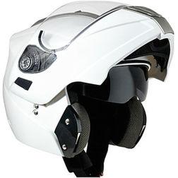 Casco Moto Modulare Apribile  CGM 504 Doppia Visiera Bianco Perlato FUORI TUTTO Cgm