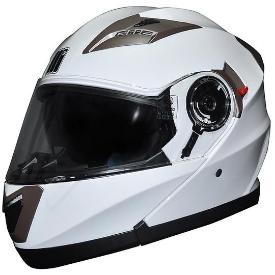 Casco Moto Modulare Apribile Motocubo 925 Doppia Visiera Bianco