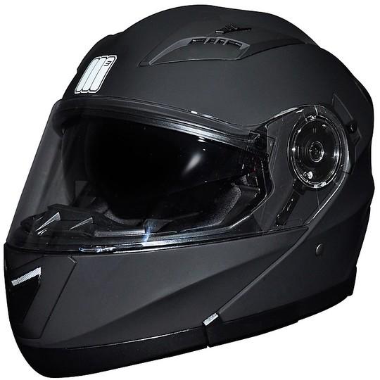 Casco Moto Modulare Apribile Motocubo 925 Doppia Visiera Nero Opaco
