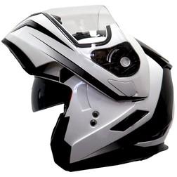 Casco Moto Modulare Apribile One Doppia Visiera Bianco-Nero One