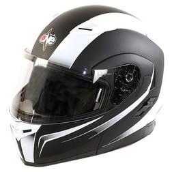 Casco Moto Modulare Apribile One Doppia Visiera Nero-Bianco One