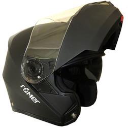 Casco Moto Modulare Apribile Romer Helmet Klap Nero Opaco Doppia Visiera Leggerissimo Origine
