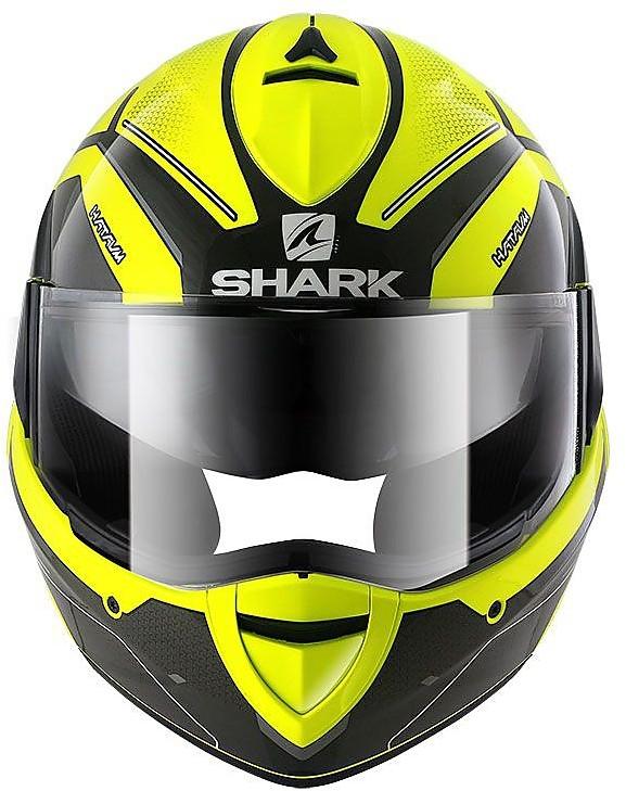 Shark Evoline 3/Hataum moto caschi taglia M giallo
