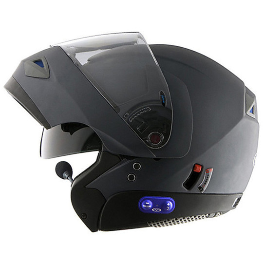 Casco moto modulare apribile vemar jiano interfono - Casque moto bluetooth integre ...