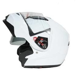 Casco Moto Modulare Humans Motocubo Flip Doppia Visiera Bianco lucido Humans