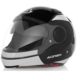 Casco Moto Modulare Jet Acerbis Sunrise Nero Bianco Doppia Visiera Acerbis