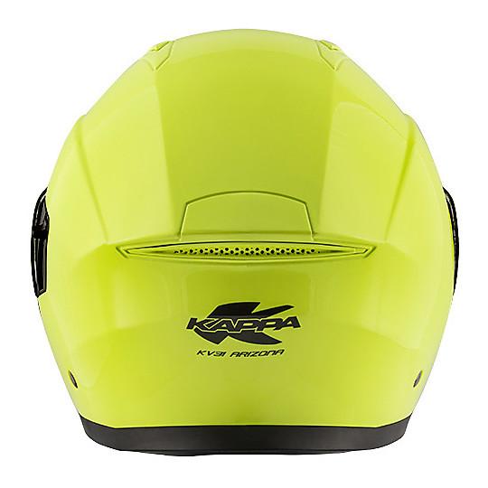 Casco Moto Modulare Kappa KV31 ARIZONA Basic Giallo Fluo Nero Opaco