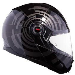 Casco Moto Modulare Ls2 FF386 Ride Doppia Visiera Abyss Nero Ls2