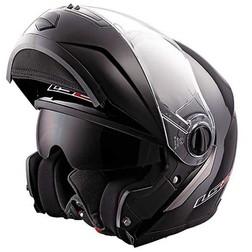 Casco Moto Modulare Ls2 FF386 Ride Doppia Visiera Nero Lucido Ls2